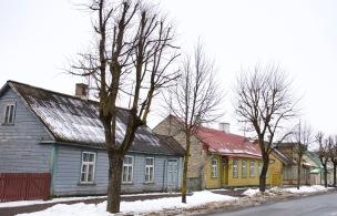 Kleurrijke huizen in Haapsalu