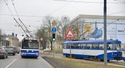 Trams en trolleybussen in Riga
