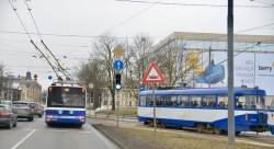 Trams en trolleybussen in Riga