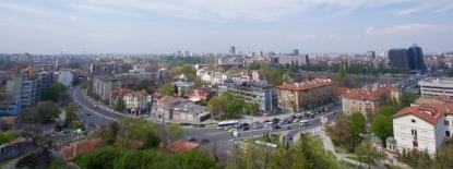 Overzicht Plovdiv vanuit de oude stad.