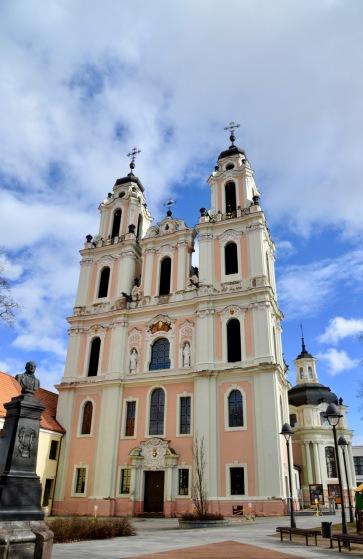 Een van de vele fraaie gebouwen in de stad Vilinius.