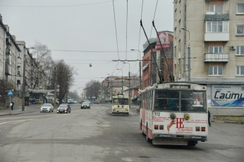 Ook hier weer de bekende trolleybussen.