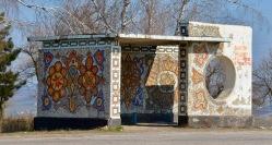 En natuurlijk de mozaikbushaltes ook in Moldavie