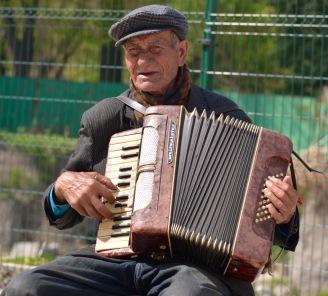 Straatmuzikant in Plovidv