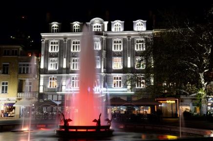 Plovdiv centrum by night.