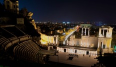 Amfitheater by night in Plovdiv