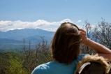 Gravelweg Melnik-Pirin met ons uitzicht vanaf de wild camp plek.