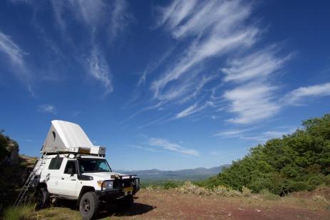Wild camp met mooie luchten