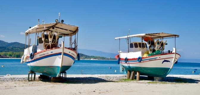Vissersbootjes heel veel vissersbootjes in Griekenland