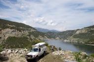 Uitzicht op Aliakmonas, was een mooie route langs dit meer.