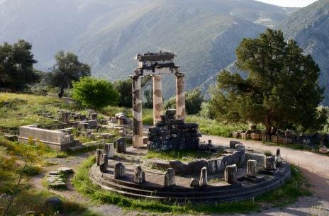 Sanctuary van Apollo bij Delphi.