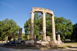 Tempel in het oude Olympia.